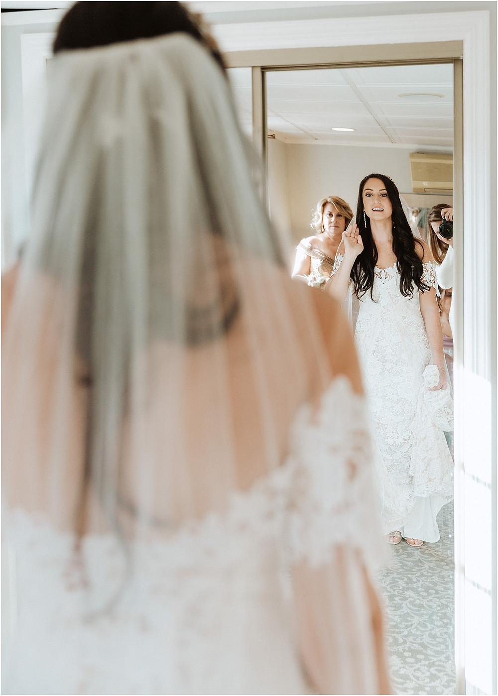 Getting Ready Bridal Portrait