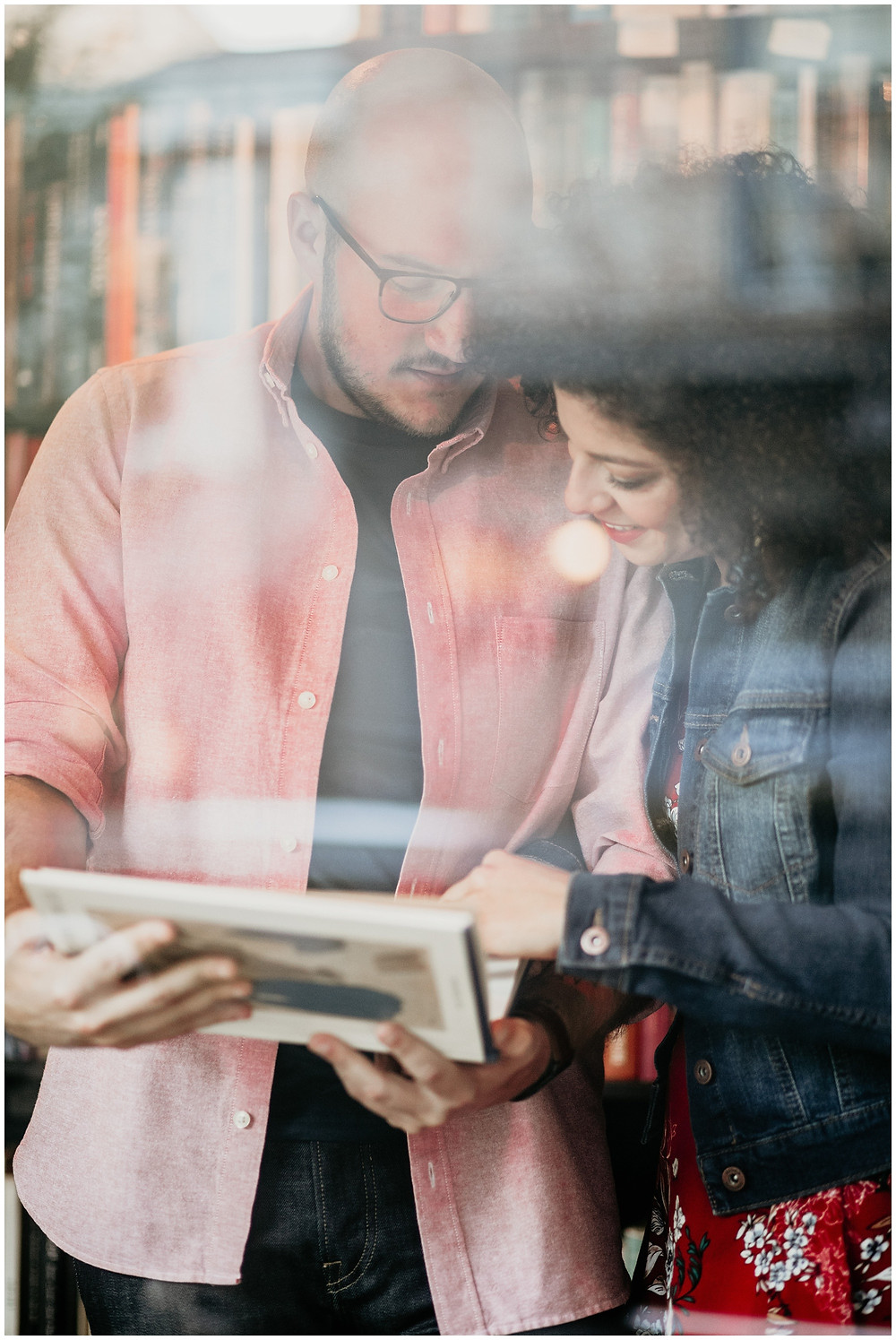 Downtown Bookstore Engagement Session