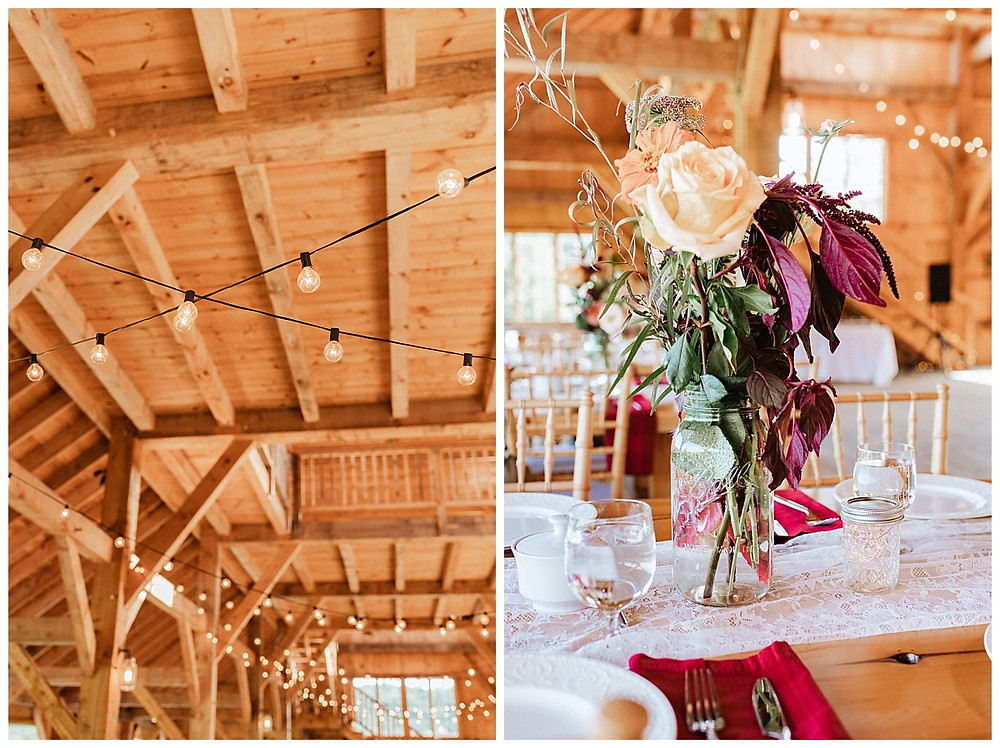 Barn Wedding Reception Decor