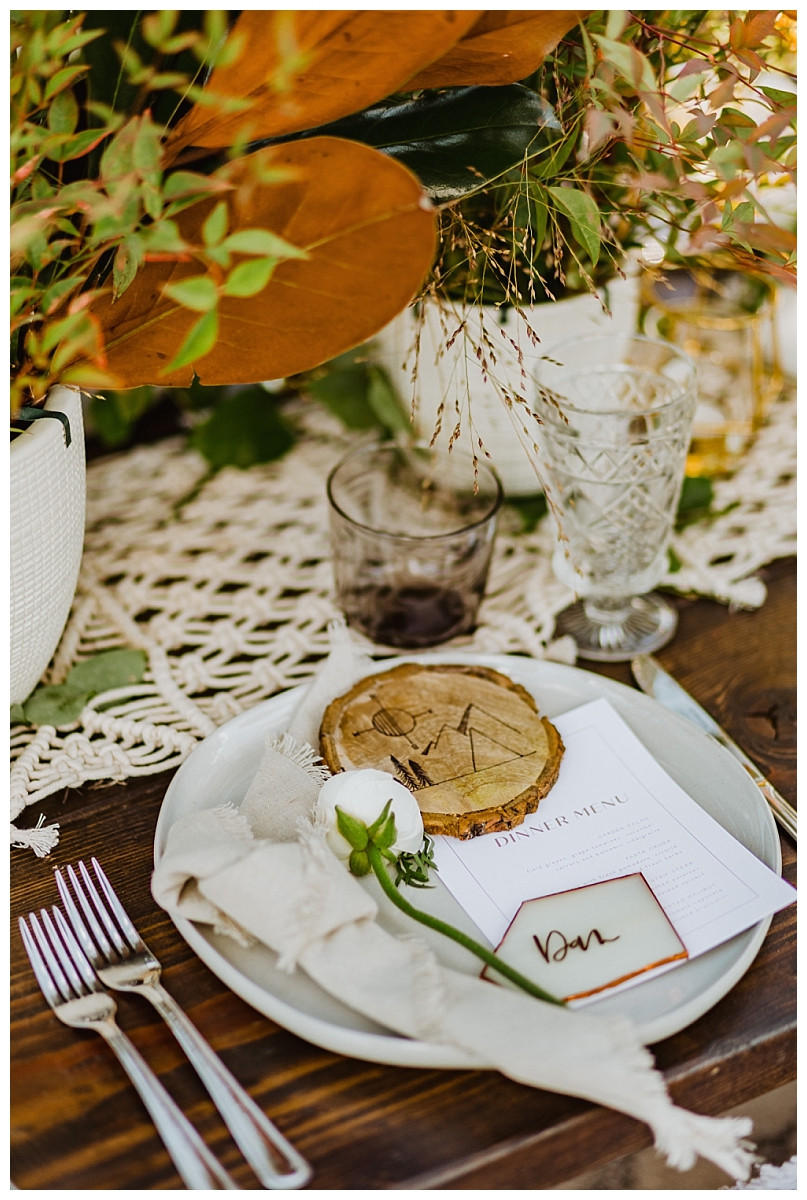 Rocky Mountain Elopement Reception Details