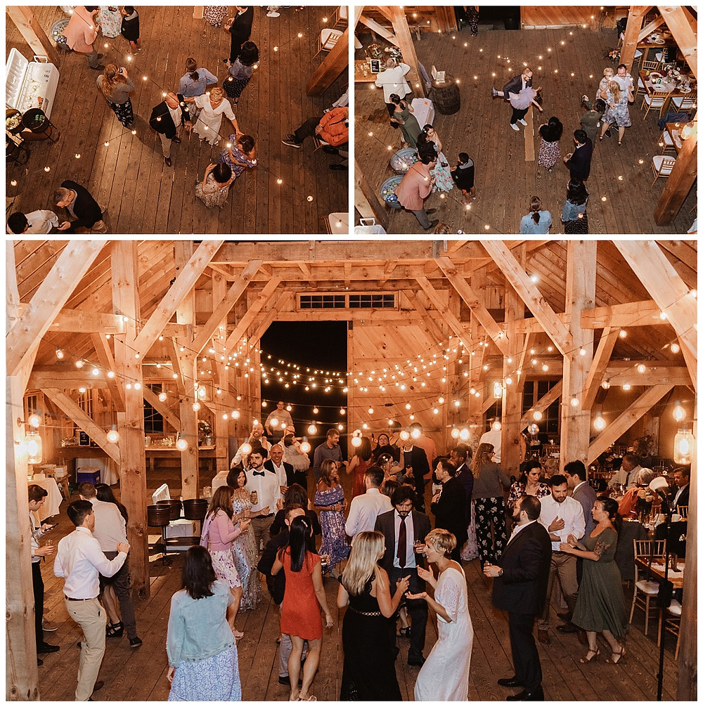 Barn Wedding Reception Dancing