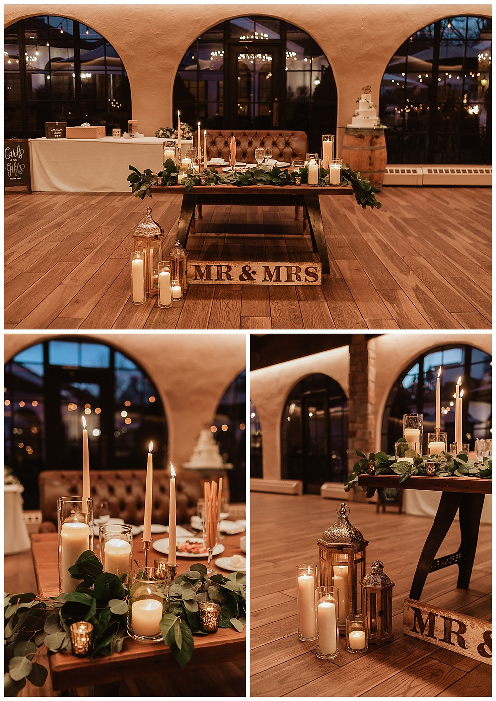 Sweetheart Table Setup and Reception Details at Perona Farms Wedding