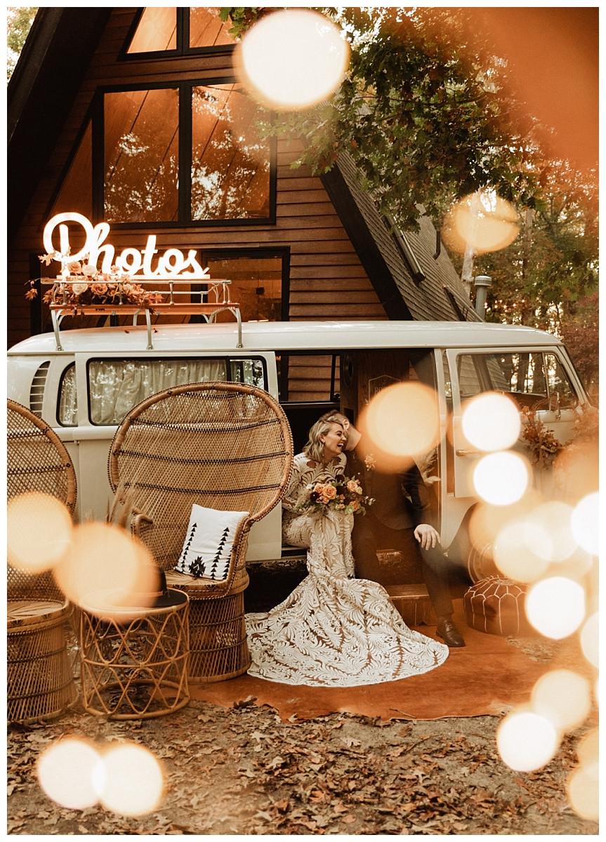 Boho Autumn Bride & Groom Portraits