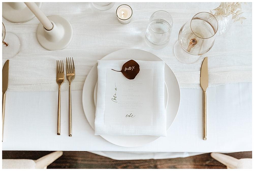Simple Elegant Earthy Table Setting