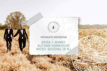 Intimate Autumn Farmhouse Micro Wedding in New Jersey