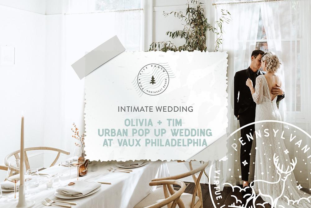 Urban Pop Up Wedding at Vaux Studios Philadelphia