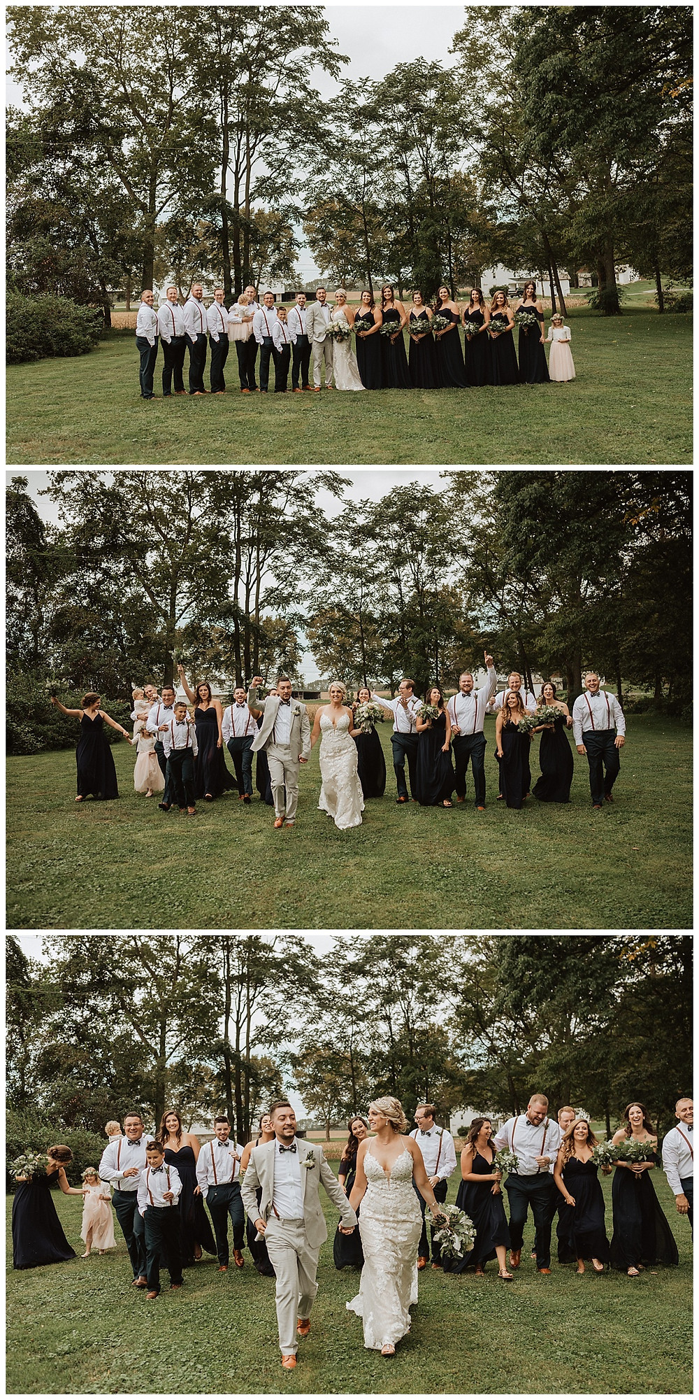 Full Wedding Party Portraits