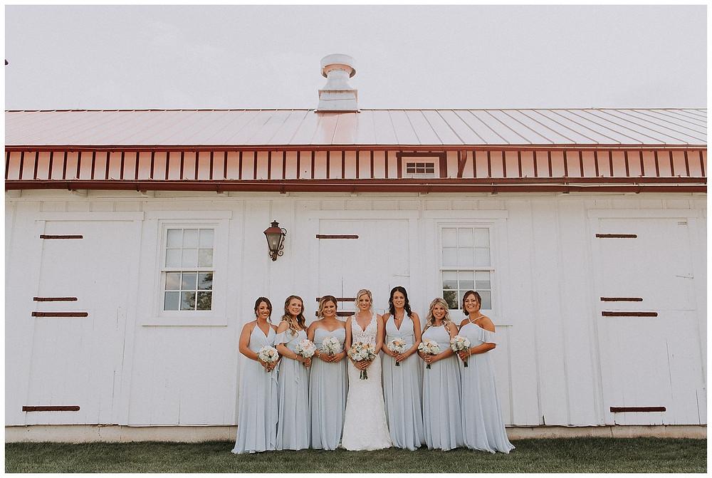 Bridal Party Barn Portraits