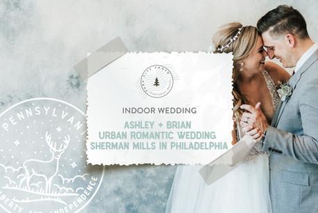 Urban Romantic Wedding at Sherman Mills in Philadelphia, PA