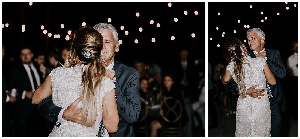 Father Daughter Dance at Vintage Boat Wedding