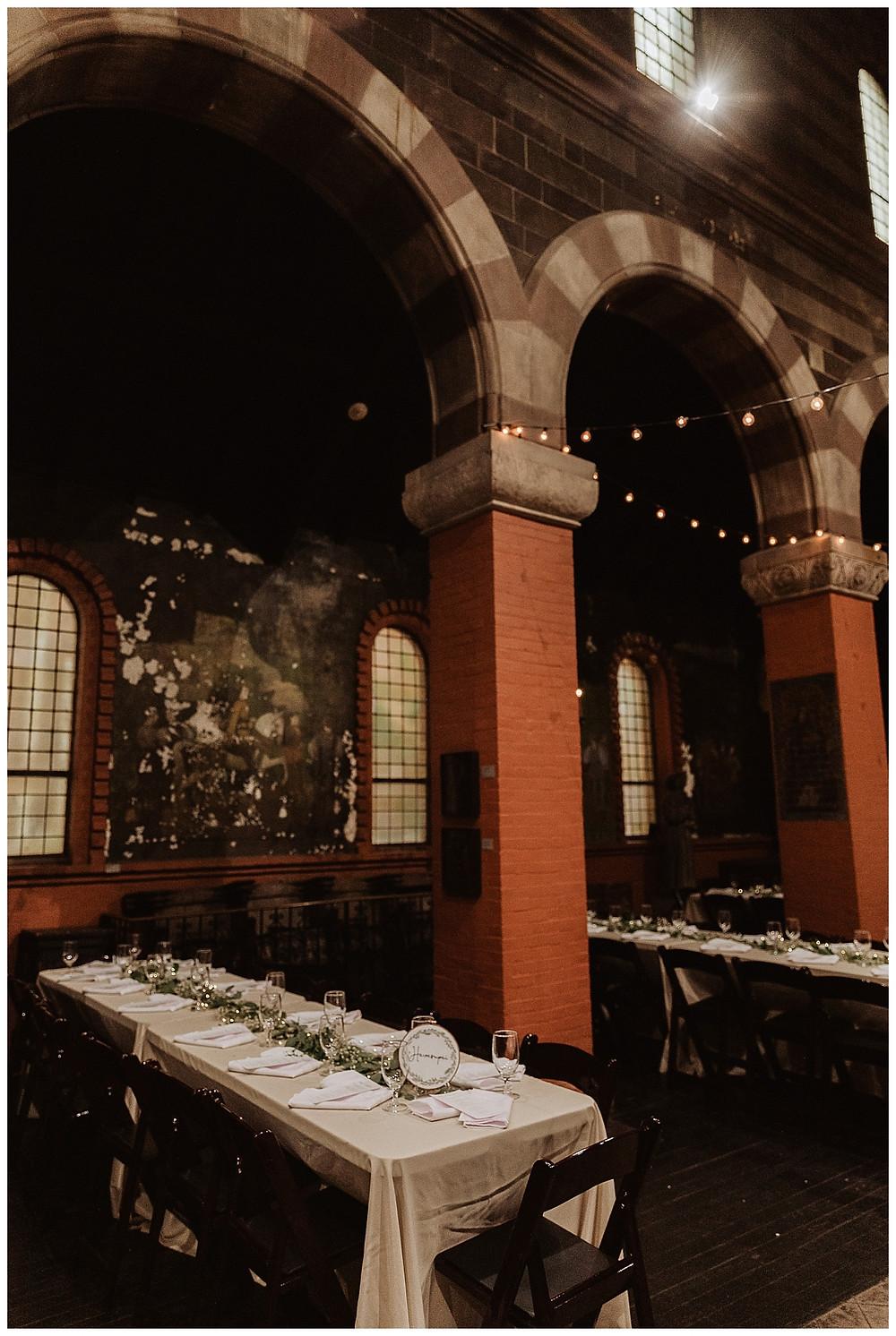 Vintage Industrial Wedding Reception at the Fleisher Art Memorial