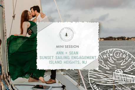 Sunset Sailing Engagement Session in Island Heights, NJ