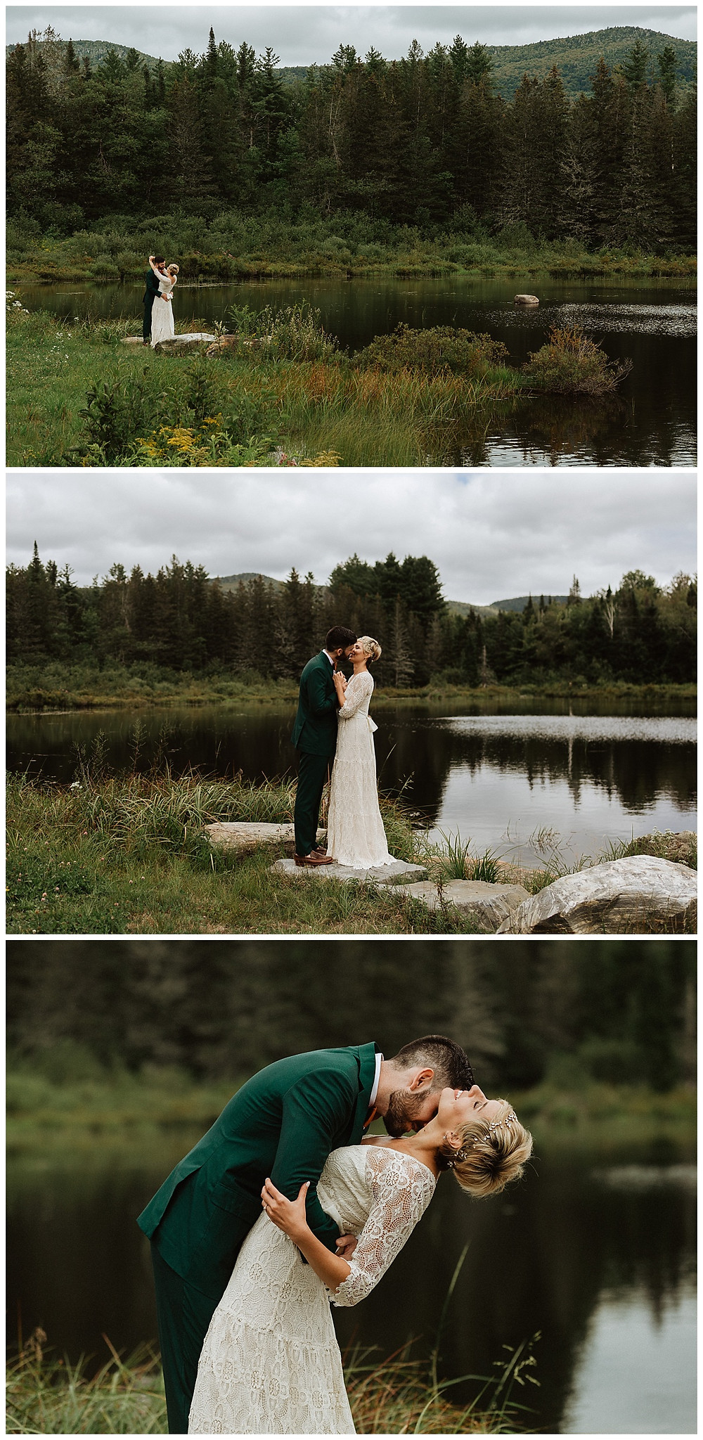Bride and Groom Vermont Mountain Portraits