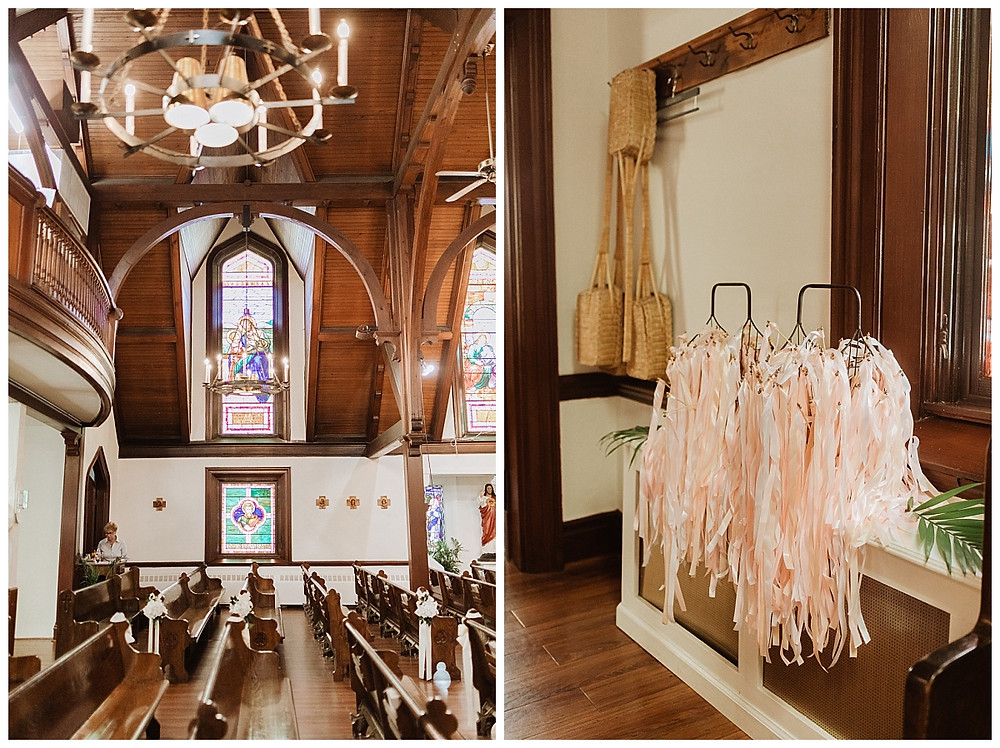 Indoor Church Wedding Details