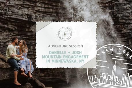 Mountaintop & Waterfall Adventure Engagement in Minnewaska, NY