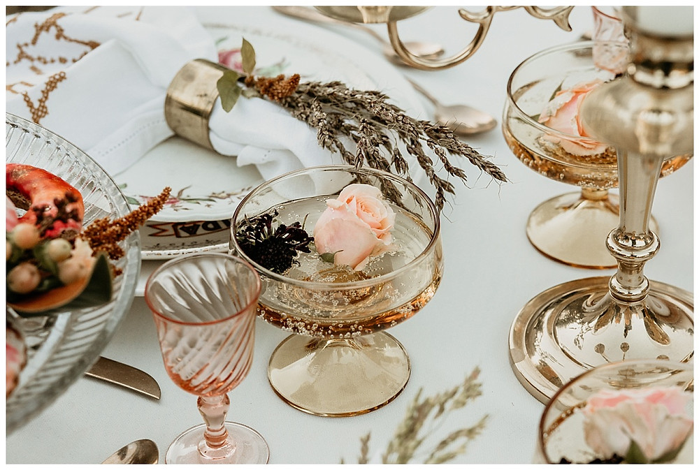 Vintage Boho Table Glassware