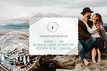 Intimate Cabin and Beach Adventure Session in British Columbia, Canada