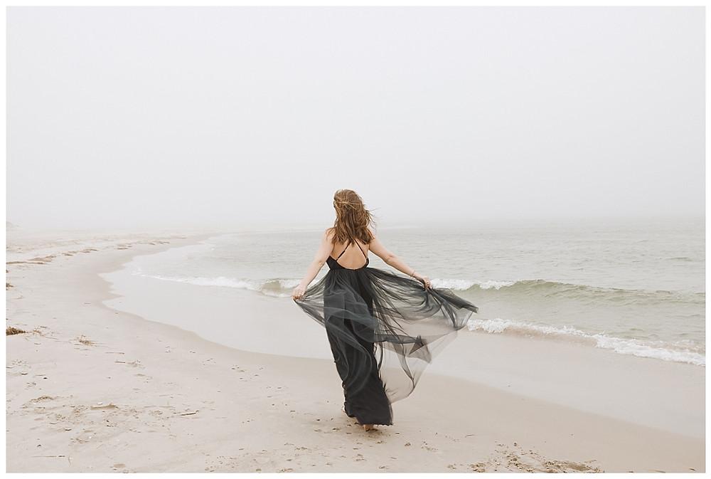 Black Tulle Bridesmaid Dress