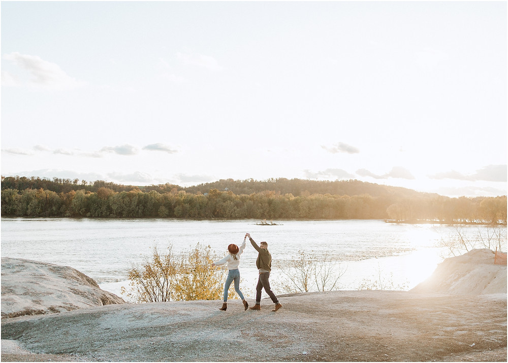 White Cliffs of Conoy Sunset Engagement Session PA