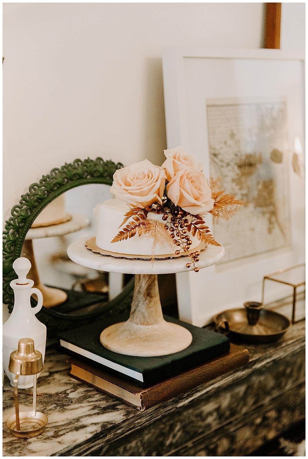 Rose Gold Mini Wedding Cake