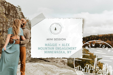 Autumn Mountain Mini Engagement Session at Minnewaska State Park, NY