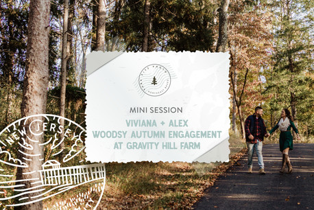 Woodsy Autumn Engagement Session at Gravity Hill Farm in NJ