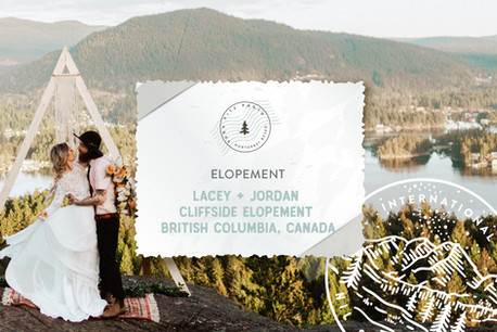 Boho Canadian Cliff Side Elopement in British Columbia