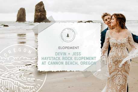 Haystack Rock Elopement at Cannon Beach, Oregon