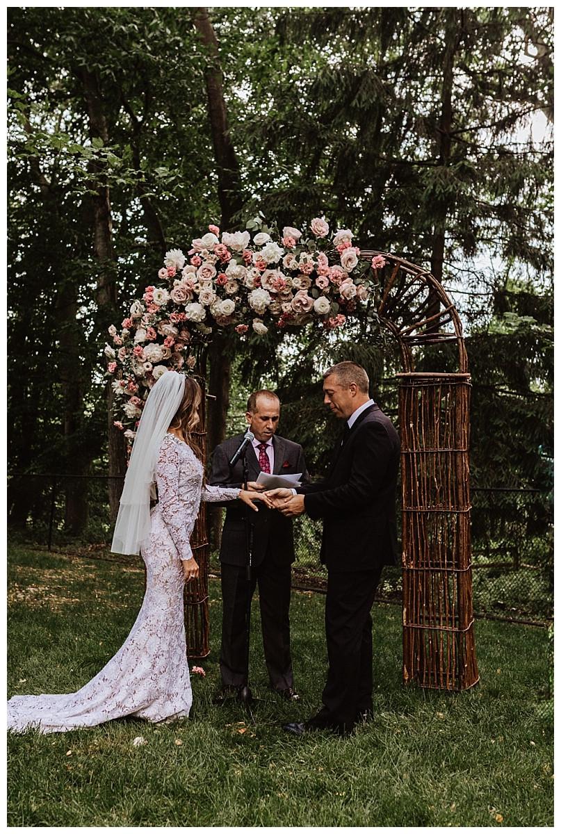 Romantic Backyard Wedding Ceremony, Sara Fitz Co