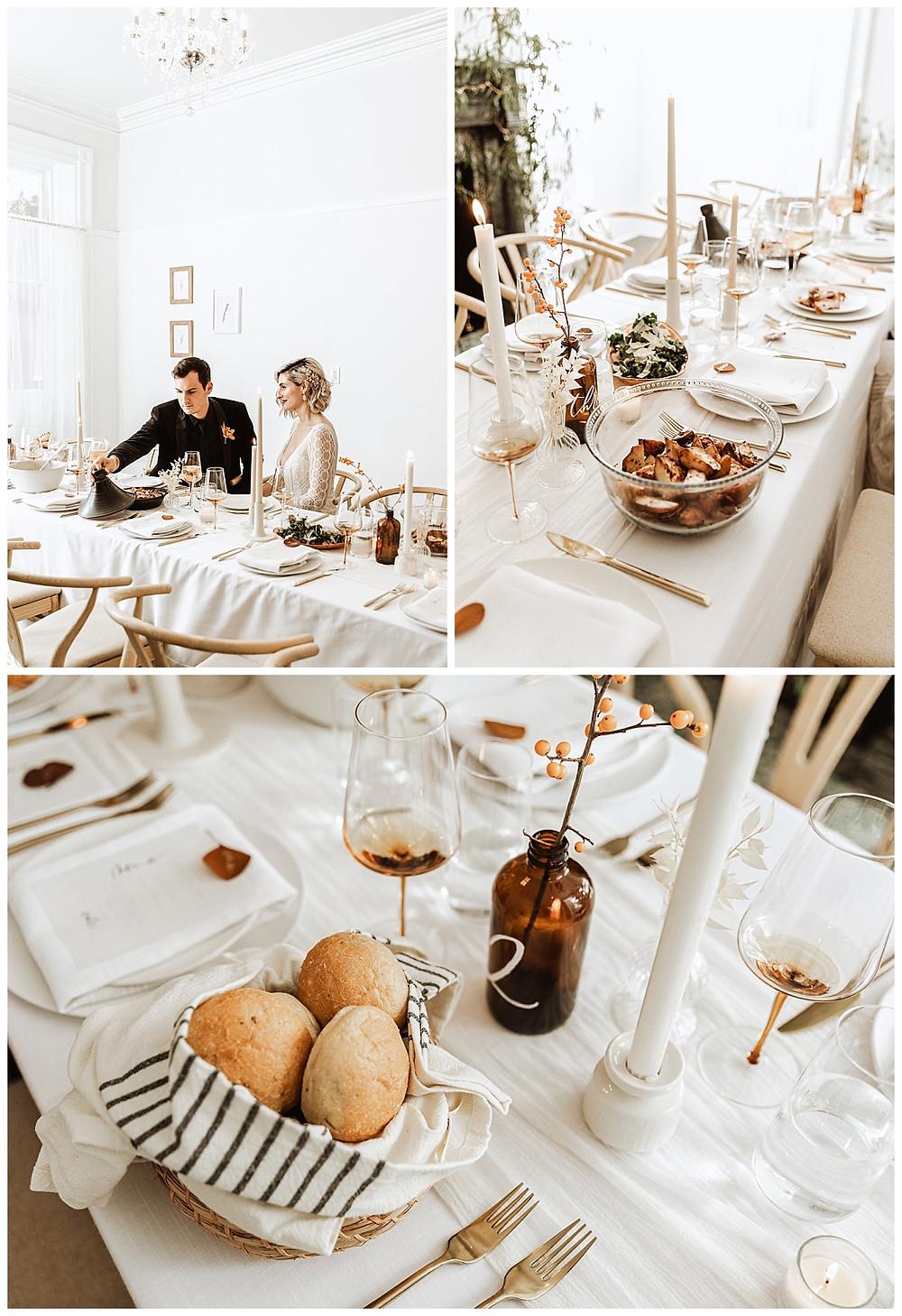 Family Style Dinner Reception at Vaux Studio Philadelphia