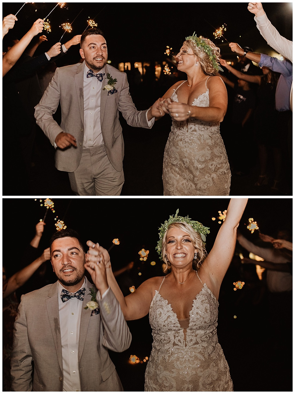 Night Time Sparkler Bride & Groom Portraits