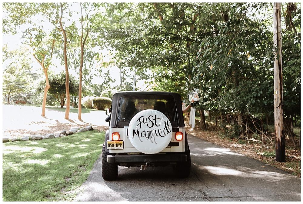 Jeep Just Married Getaway Car