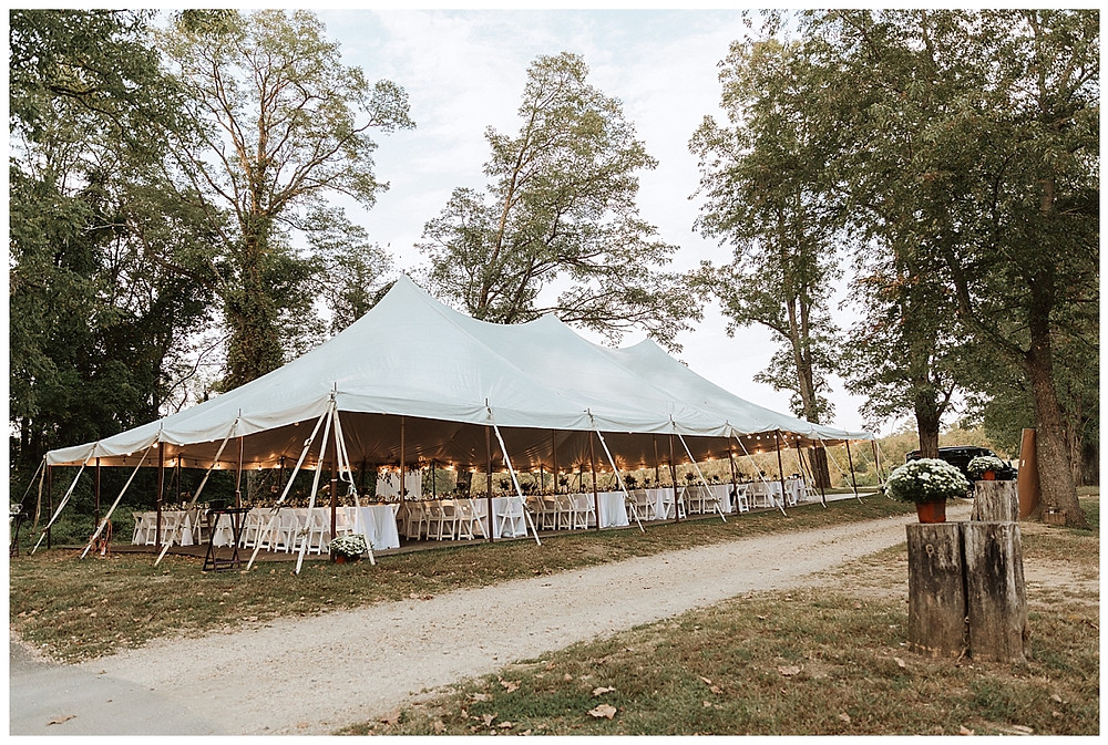 Tented Wedding Reception at Bayonet Farms Wedding NJ