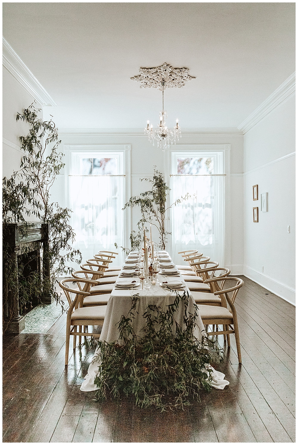 Reception Space with Greenery Detail at VAUX Studios
