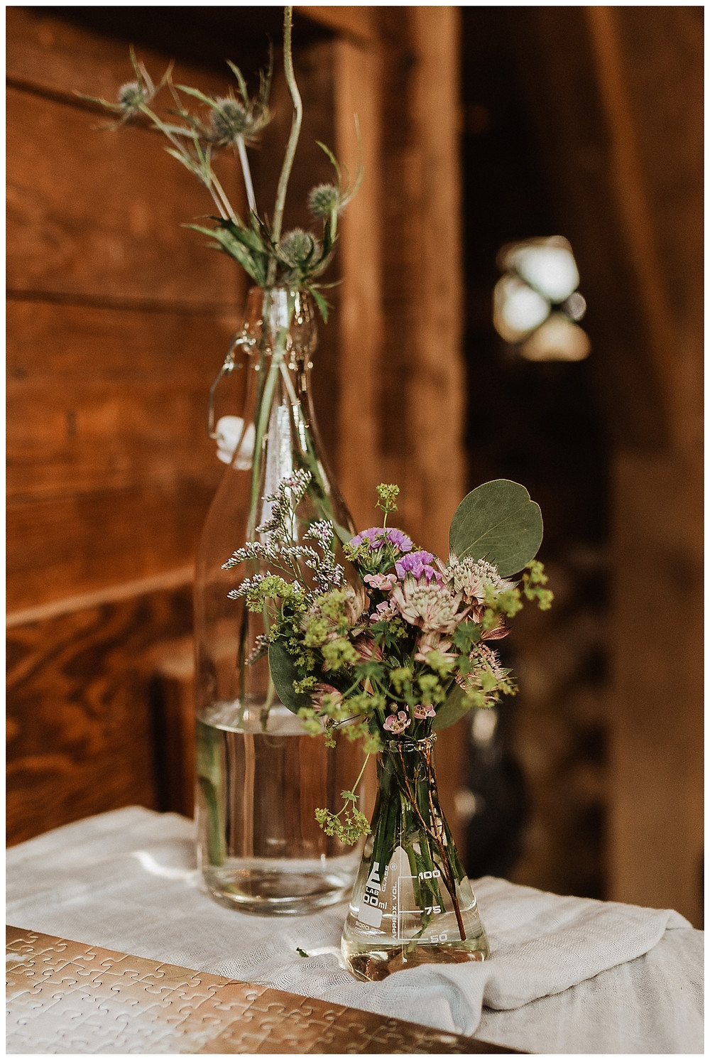 Barn Wedding Reception Decor Details