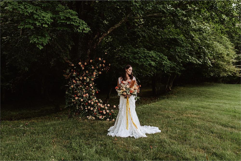 Moody Boho Mountain Bridal Portraits