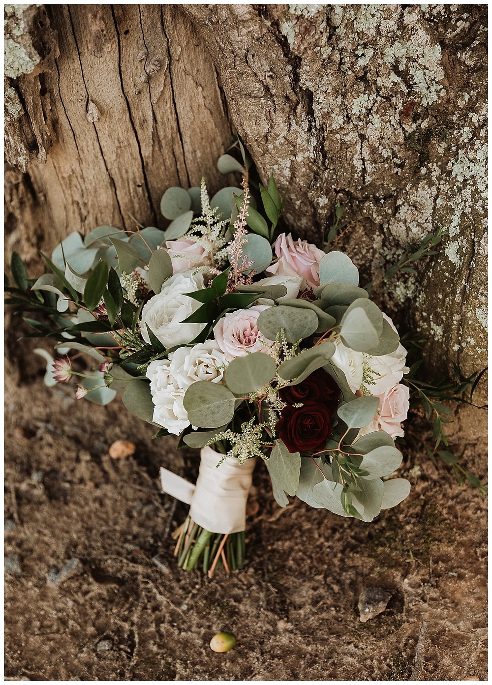 Rose & Eucalyptus Bridal Bouquet