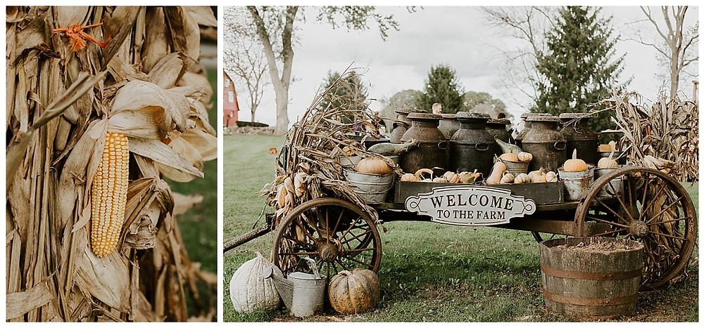 Fall Farm Wedding Decor