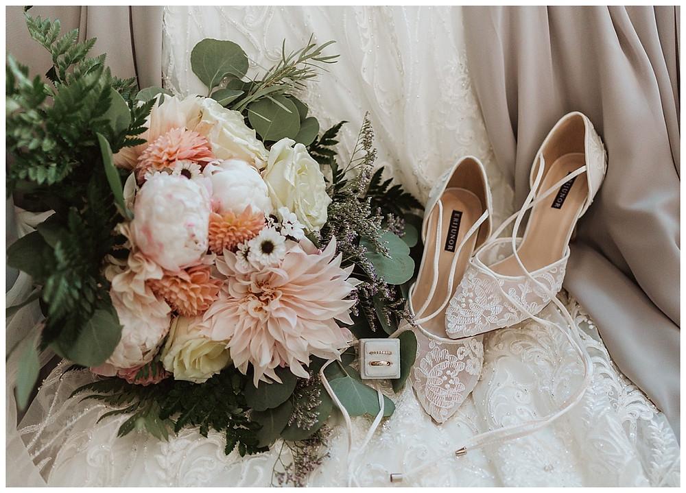 Bridal Details Bouquet and Shoes