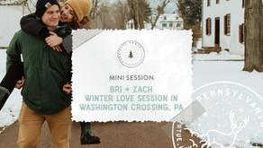 Bri + Zach's Washington Crossing Love Session, Pennsylvania
