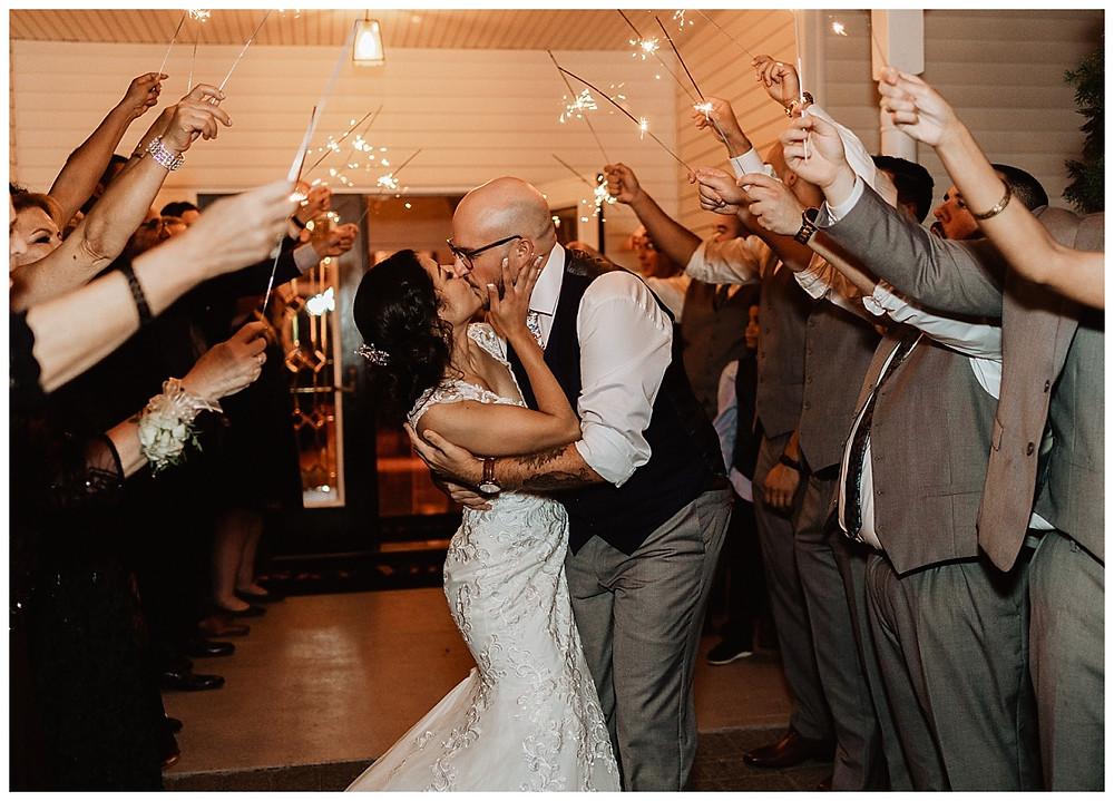 Bride & Groom Sparkler Photos
