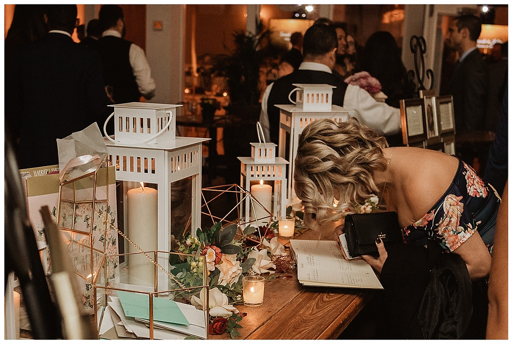 Guests Signing Guestbook