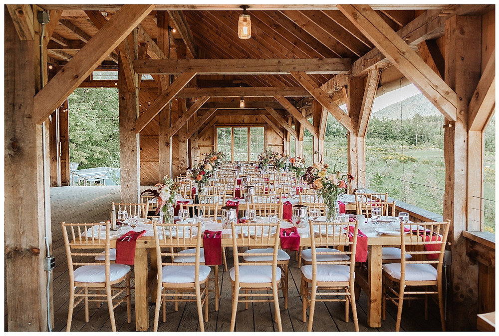 Satoyama Farm Wedding Barn Decor in Rochester, VT