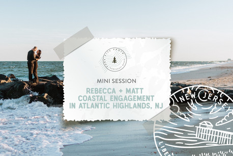 Coastal Engagement Session at Twin Lights & Monmouth Beach, in Atlantic Highlands NJ