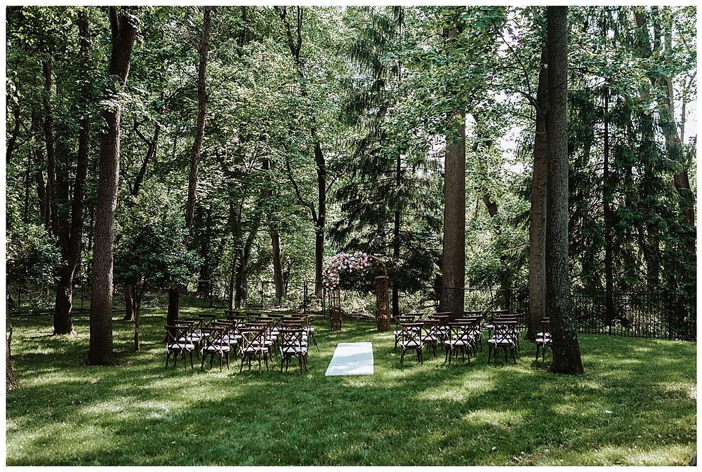 Backyard Micro Wedding Ceremony in Colts Neck, NJ, Sara Fitz Co