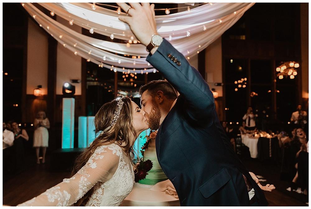 Bride and Groom Dancing Portrait