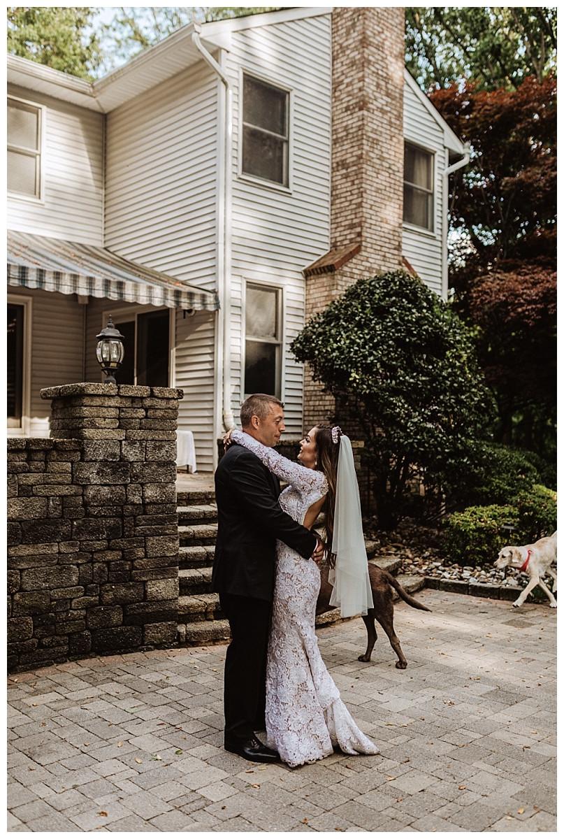 First Dance at Backyard Micro Wedding, Sara Fitz Co