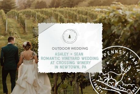 Romantic Vineyard Wedding at Crossing Winery in Newtown, PA