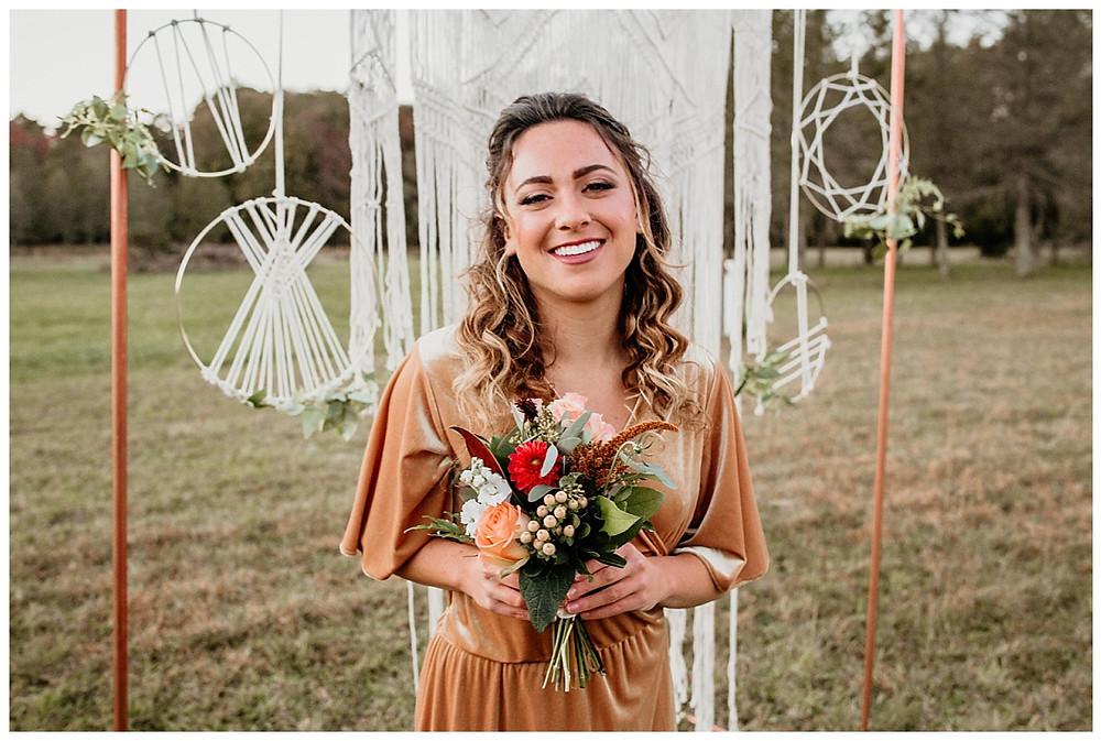 Boho Wedding Ceremony Bridesmaid Bouquet