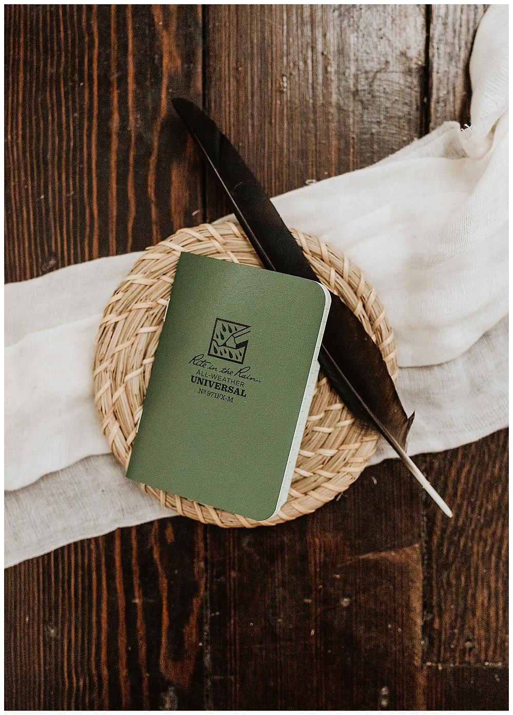 Rustic Vow Book Groom Details